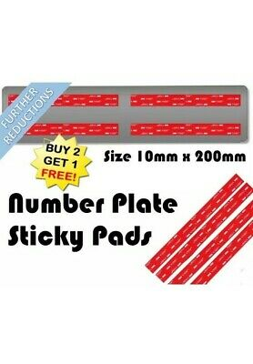 3M Double Sided Number Plate Sticky Pads 200mm x 10mm (set of 4) (all vehicles)