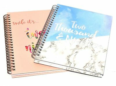 2019 A5 Week to View Hardback Note Book Appointment Diary