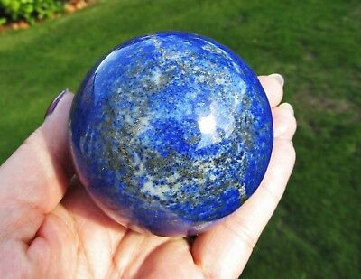 Lapis Lazuli Sphere AA+ Quality 6.5cms Dia Exceptional Polished Afghanistan 509g