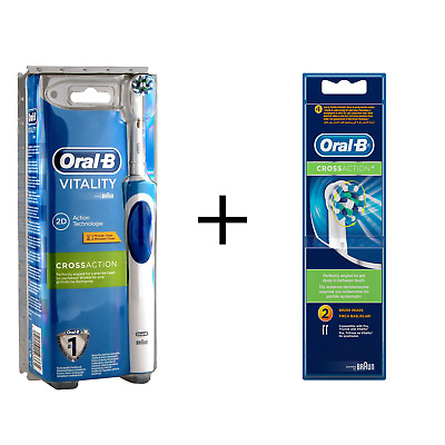 Braun Oral-B Vitality Electric Toothbrush & CrossAction Replacement Refill Heads