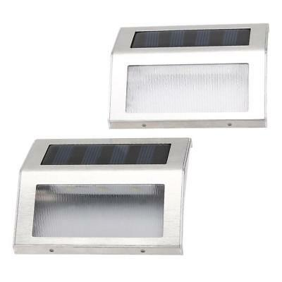 2pcs Outdoor Stairs Solar Power LED Light Garden Path Motion Sensor Small Lamps