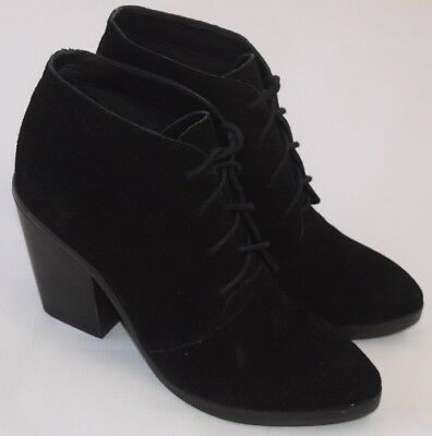 0f2d92a995c STEVE MADDEN JAYSON Black Suede Lace Up Bootie Ankle Boots Shoes Womens 8.5