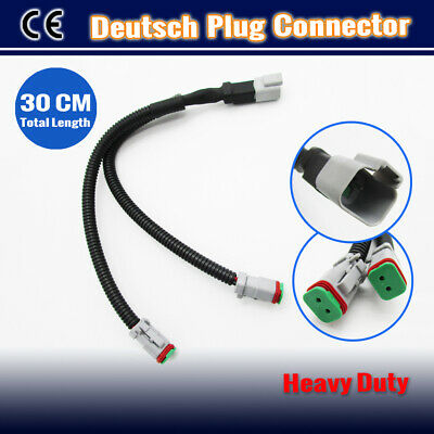 2 to1 Deutsch Y Connector Joiner 2 Lights with 1 Wiring Harness DT Cable 30CM