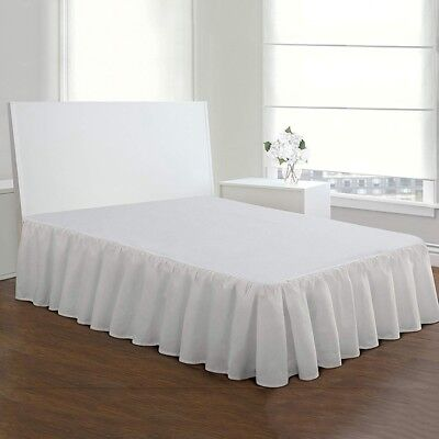 Pleated Bed Skirt Dust Bedspread Stonewashed Ruffled Solid Bed Clothes Bed Cover