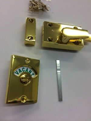 Brass Bathroom Toilet Indicator Lock Bolt Vacant Engaged Lock Vintage Style Bolt