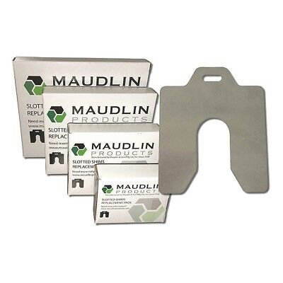 """Maudlin MSA050-10 SS Slotted Shim with Tab 0.0500"""" Thick Trade Size: A 10 Pack"""