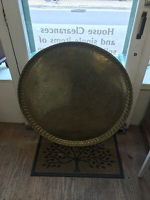 Large Engraved Brass Table Top
