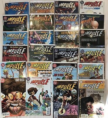 Impulse 1995 1-9 + 15 More Issues Lot Mark Waid Young Justice The Flash