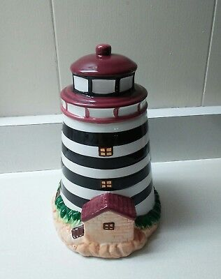 Lighthouse Cookie Jar Treat Alco Industries Beach/Nautical