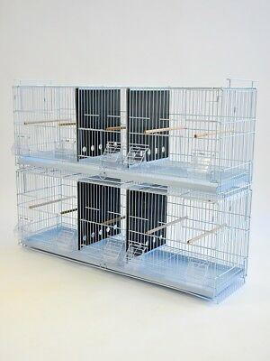 "38"" Stackable Triple Breeding Bird Cage for Finch Canary"