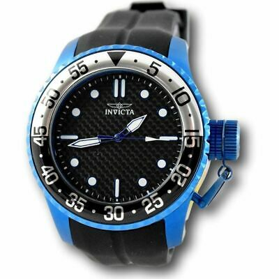 Invicta Pro Diver 17892 Medusa Blue Stainless Black Silicone Sport Watch
