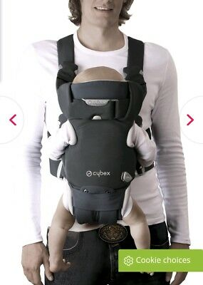 cybex i go 3 way baby carrier - boxed and excellent condition dark blue