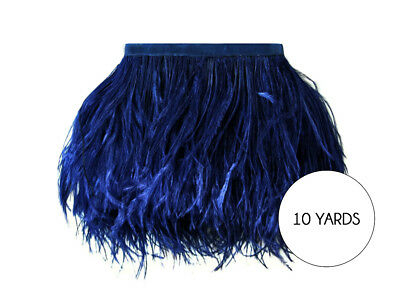 10 Yards - Navy Blue Ostrich Fringe Trim Wholesale Feather Halloween Costume