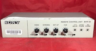 Sony Bvr-50 Video Tbc Time Base Corrector Proc Amp Remote Control Color Timing