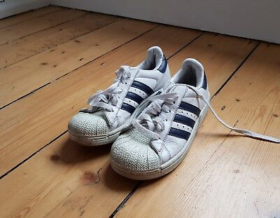 ORIGINAL BOYS ADIDAS SUPERSTAR SHELL TOE SPORTS CASUAL TRAINERS SIZE size 1