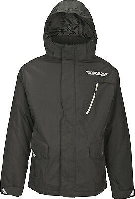 Fly Racing Men's Composite Black Hooded Insulated Casual Pit Jacket