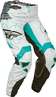Fly Racing 2015 Girl's Kinetic Teal/White Offroad Motocross Riding Pants