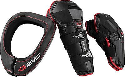 EVS Slam Combo Adult MX Offroad Motocross Elbow & Knee Guard & Neck Collar Kit