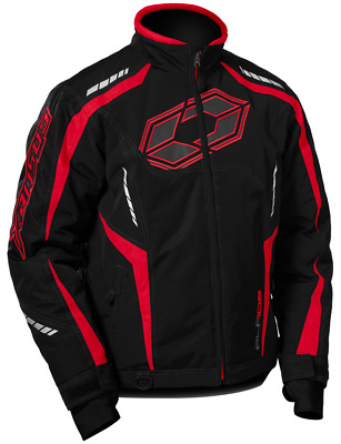 Castle X Mens Blade G3 Snowmobile Cold Weather Winter Snow Jacket Coat Red Black