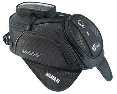 Joe Rocket Manta XL Black Magnetic Motorcycle Tank Bag