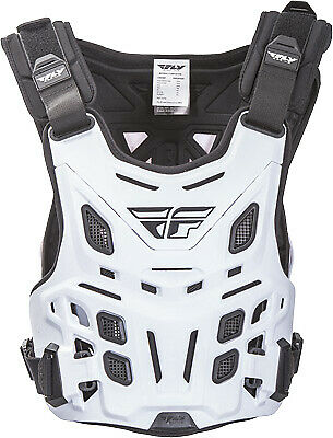 Fly Revel Race White ATV Enduro Offroad Trail Riding Roost Guard Chest Protector
