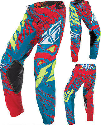 Fly Racing Kinetic Relapse Teal Red ATV Motocross Offroad Motorcycle Riding Pant