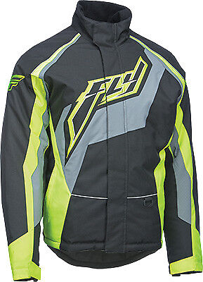 Fly Racing Men's Outpost Black Hi-Viz Cold Weather Snowmobile Winter Jacket Coat