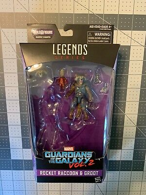 Marvel Legends Guardians of the Galaxy Vol. 2 Rocket & Groot Complete MIB NO BAF