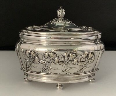 Art Nouveau Silver Plated Box by Fraget c.1900
