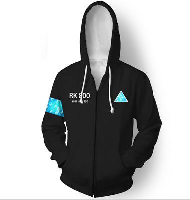 Connor RK800 Hoodie Detroit: Become Human Mens Hooded Sweatshirt Cosplay Costume