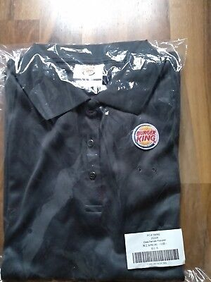 Burger King Polo Shirt Poloshirt T-Shirt Crew Female Damen grau Größe S OVP