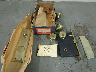 NOS Vintage Brass CORBIN Front Door Mortise lock knob Hardware heavy duty