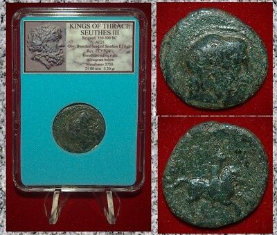 Ancient GREEK Coin THRACE SEUTHES III Horseman On Reverse RARE COIN