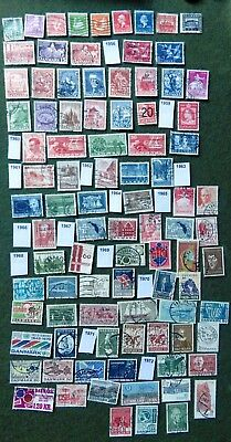 DENMARK 1936-1972 Commemorative Stamps (91 diff) collection  -off paper (B)