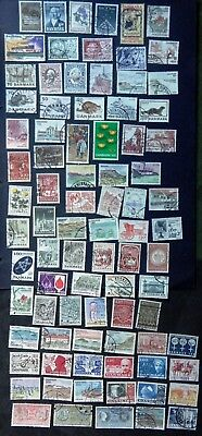 DENMARK 1973-1981 Commemorative Stamps (84 diff) collection off paper (C)