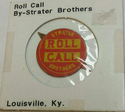 Tobacco Tag ROLL CALL Strater Brothers Louisville KY