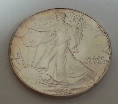 1986 Silver Eagle ~ 1St Yr Of Issue ~ Key Date ~ Nice Original Coin ~ .999 Fine!