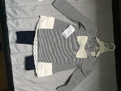 Brand new Super cute girls maggie and zoe tunic and legging set 24 months