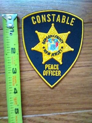 New Jersey - Bergen County NJ Constable Police Patch Badge 1970