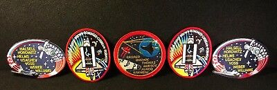 Vintage Nasa Space Shuttle Patches 1980s Mixed Lot Of 5
