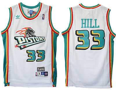 quality design 71059 f7be2 GRANT HILL #33 Detroit Pistons Men's White Hardwood Classics Throwback  Jersey