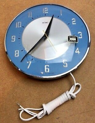 Metamec clock Vintage 1950s Mid Century Electric Wall NR mint unused untested