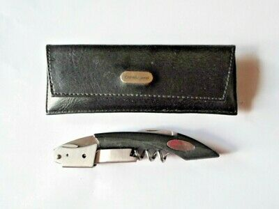 Crate & Barrel Double-Hinged Waiters Corkscrew~Original, in their cases, Used