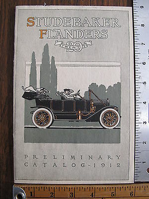 WoW Original 1912 Studebaker Flanders 20 Twenty EMF Catalog Advertising Brochure