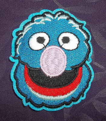 Grover Patch Embroidered Sesame Street  Diy Sew Or Iron On