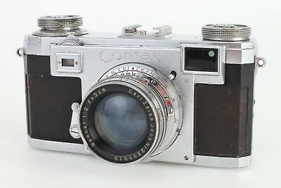 :Contax IIa Color Dial 35mm Film Rangefinder Camera w Sonnar 50mm F2 Lens