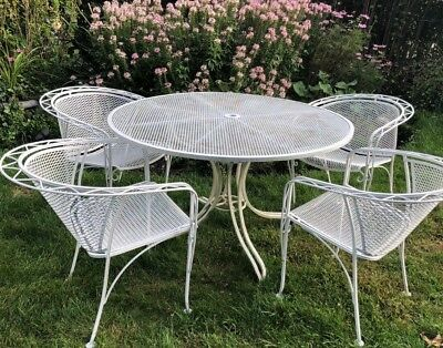 Vintage Salterini Mcm Mid-Century Modern Wrought Iron Patio Outdoor Furniture