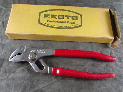 """Vintage Proto 262G 6 1/2"""" Tongue Groove Slip Joint Pliers USA Made NOS S-9"""