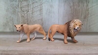 Schleich Collectible Lions Lion and Lioness - Set of 2