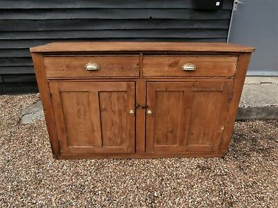 CHARACTERFUL 19th CENTURY PINE DRESSER BASE SIDEBOARD CUPBOARD - WE CAN DELIVER